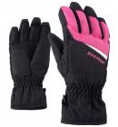 Rukavice Ziener LIPO AS® Junior černo-ružové