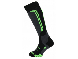Ponožky Blizzard Allround wool ski socks, black/anthracite/green