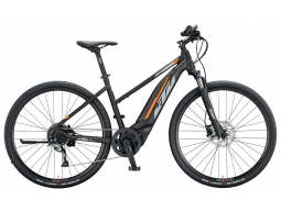 Elektrokolo KTM MACINA CROSS 520 500Wh 2020 black matt (grey +orange), dámské