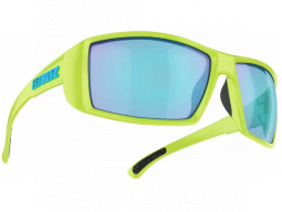 Brýle Bliz DRIFT Matt Lime Green Smoke w Blue Multi