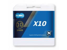 Řetěz KMC X10 stříbrná/černá