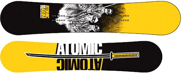 Snowboard Atomic AXUM LIMITED Black Yellow model 2006/07