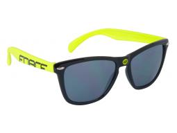 Brýle FORCE FREE černo-fluo, černá laser skla