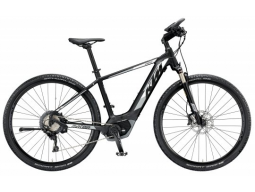 Elektrokolo KTM MACINA CROSS XT11 Black matt (white+grey), 2019