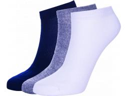 ponožky AUTHORITY Ankle Socks 3pck, white, shadow, blue