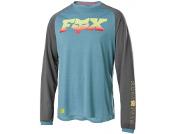 Dres Fox Racing Ranger Dr Ls Fheadx Jersey Light Blue