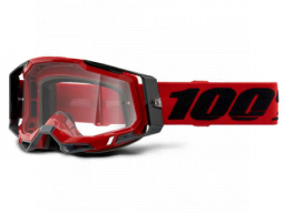 Brýle 100% RACECRAFT 2 GOGGLE RED - CLEAR LENS