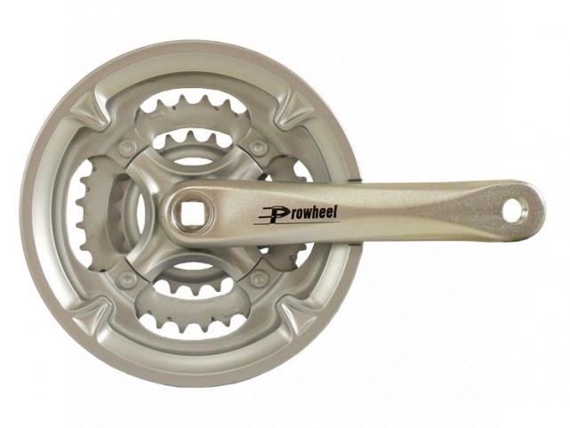 Kliky PROWHEEL MC-AC26 42-32-22 152mm stříbrné