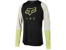 Dres Fox Racing Defend Ls Foxhead Jersey Black/Yellow