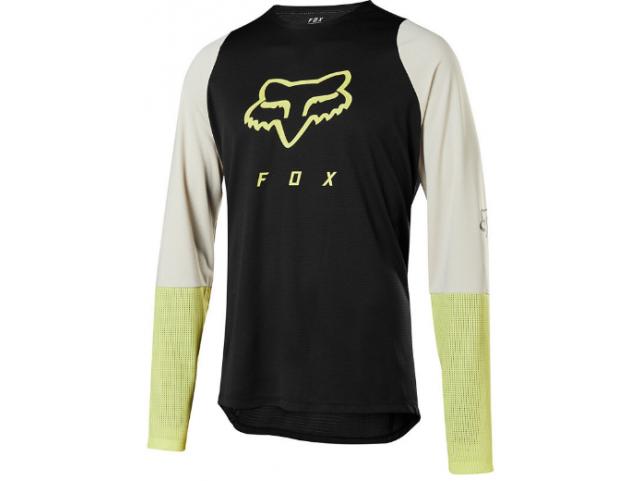Dres Fox Racing Defend Ls Foxhead Jersey Black/Yellow
