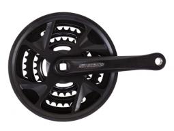 Kliky SUNTOUR XR-172 42-32-22 175mm černé + kryt