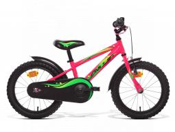 dětské kolo AMULET Mini 16, pink shine, steel, frame, 2020