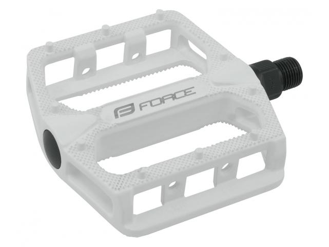 Pedály Force BMX HOT hliníkové, bílé