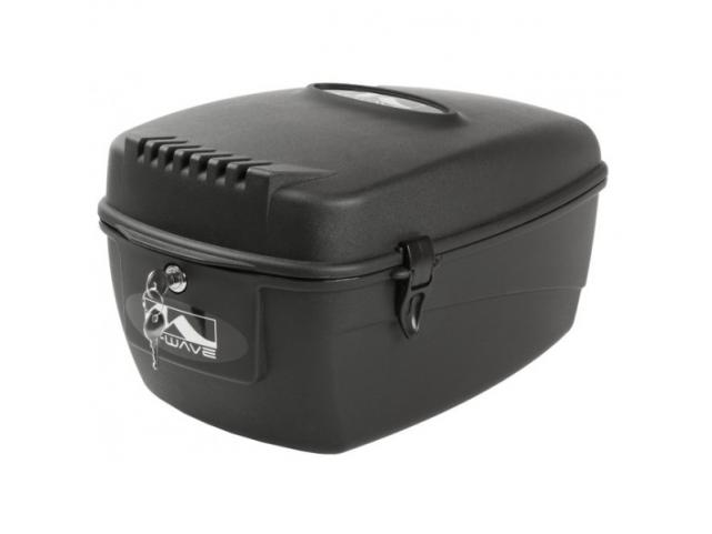 Kufr M-Wave plast na zadní nosič, zamykací, 17 litrů