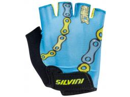 Dětské rukavice Silvini Punta CA1438 sky-neon