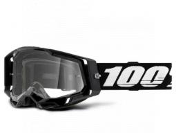 Brýle 100% RACECRAFT 2 GOGGLE BLACK - CLEAR LENS