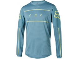 Dres Fox Racing Flexair Ls Fine Line Jersey Light Blue
