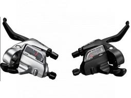 Řad/brzd. páka Shimano ALIVIO ST-T4000 MTB/trek pro V-brzdy levá 3 rychl 3 prstá stříbrná