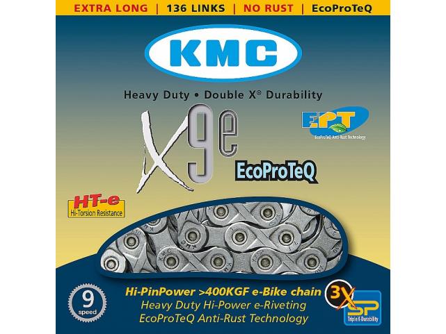 Řetěz KMC X-9-E EPT ,136čl. v krabičce, nerez.
