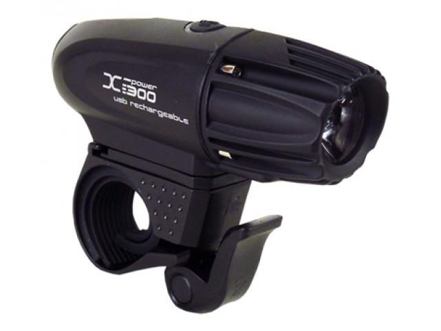 Světlo přední MOON XP-300 1LED 300lm USB černé
