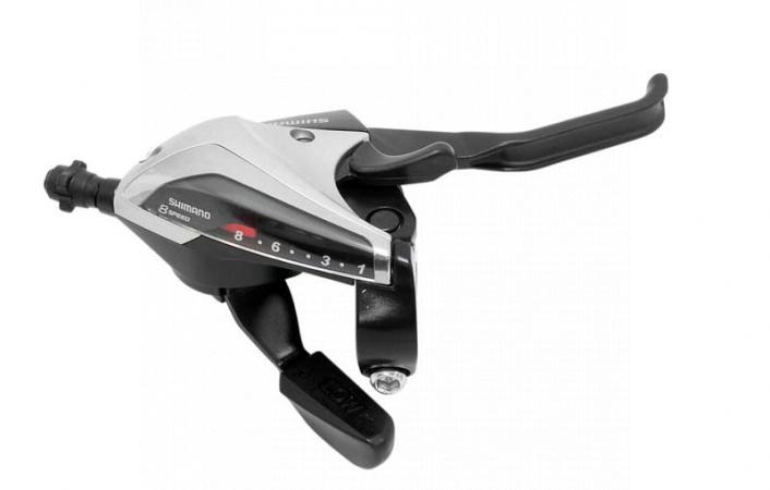 Řadící a brzdové páčky Shimano STEF65 3x8 stříbrné