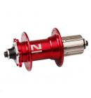 Náboj Novatec D042SB, zadní, 32-děrový, červený (N-logo)