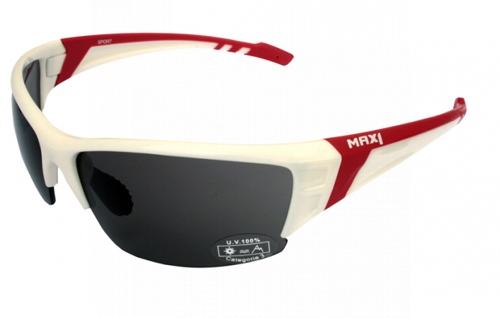 Brýle Max1 SPORT White Red Red Mirror