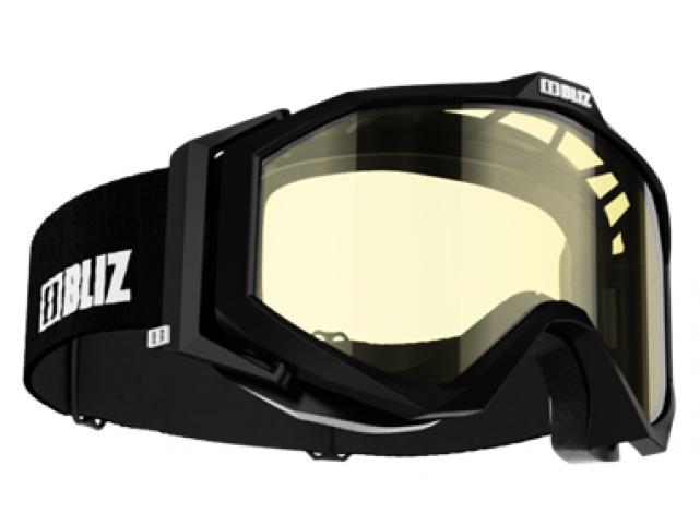 Lyžařské brýle Bliz EDGE Black, DB Yellow, model 2017/18