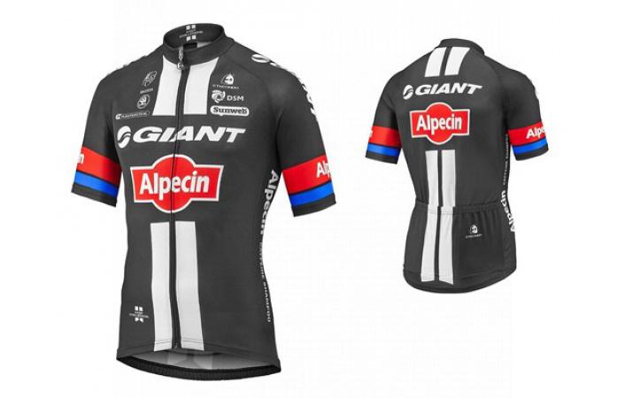 Dres Giant ALPECIN Standard Jersey White Black