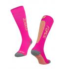 Ponožky FORCE TESSERA KOMPRESNÍ, růžová-fluo