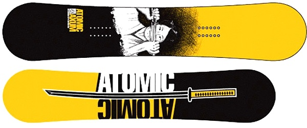Snowboard Atomic AXUM LIMITED Yellow Black model 2006/07