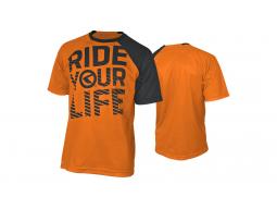 Enduro dres Kellys RIDE YOUR LIFE krátký rukáv Orange