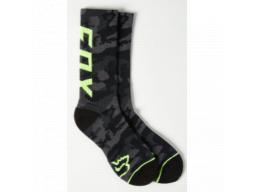 Ponožky Fox Racing Camo Cushioned Crew Black Camor