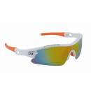 Brýle Force TEAM bílo-oranžové laser skla