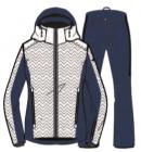 Lyžařský set bunda a kalhoty West Scout JANE SET White/Blue/Purple, 18/19