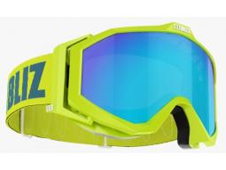 Lyžařské brýle Bliz EDGE OTG Limegreen, Brown with Blue Multi, model 2017/18