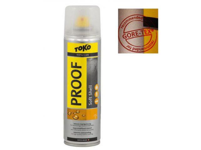 Sprej TOKO Soft Shell Proof 250ml