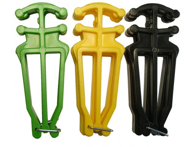Nosič lyží a hůlek D09 - Zelená