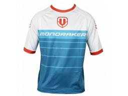 dres MONDRAKER Enduro/Trail Jersey short, petroleum/white/red